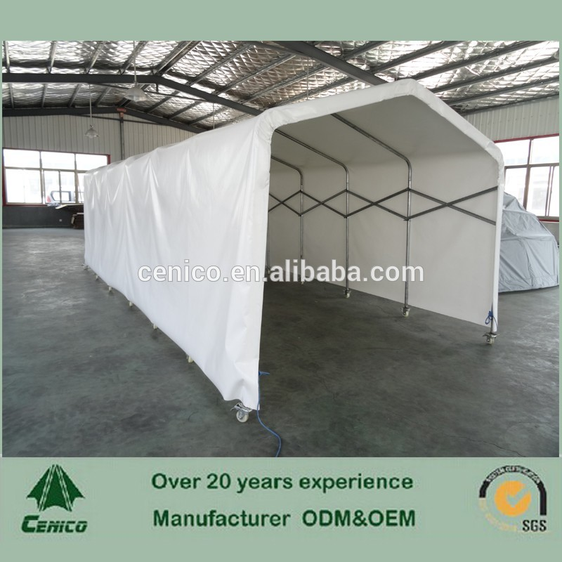 Collapsible Car Shelter : Push and pull car shelter with casters hot sale folding
