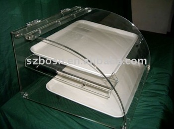 plastic bread bakery counter display tray