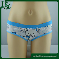 Teddy Bear Girl cartoon printed girl's teen panties