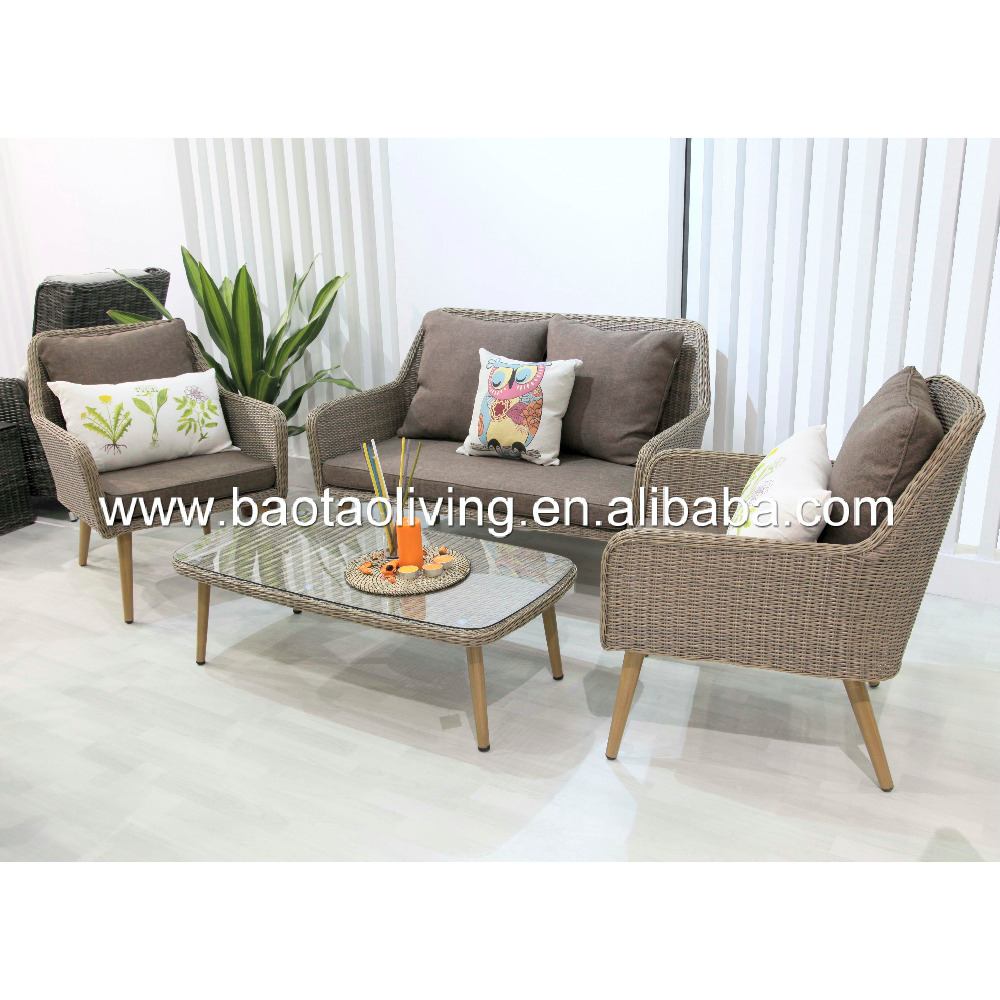 2016 hd design PE rattan garden furniture sofa set