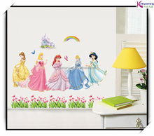 <span class=keywords><strong>Princesa</strong></span> cartoon girls room decor tatuajes <span class=keywords><strong>de</strong></span> <span class=keywords><strong>pared</strong></span>