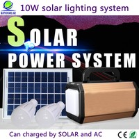 10W rechargeable battery mini solar system