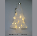 New glass christmas tree shaped with LED light could be wall hanging