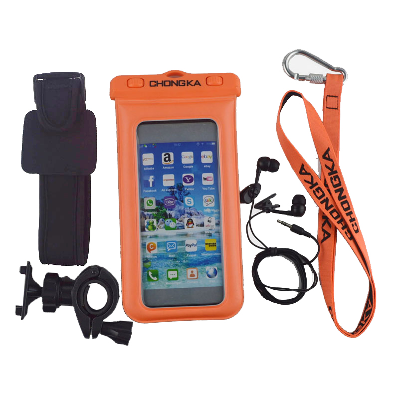 Outdoor Sport Waterproof Bag for IPhone 4,5,6 with Armband China Supplier