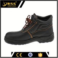 men's work boots made in China safety shoe supplier lace-up safety shoes leather upper work liberty safety shoes