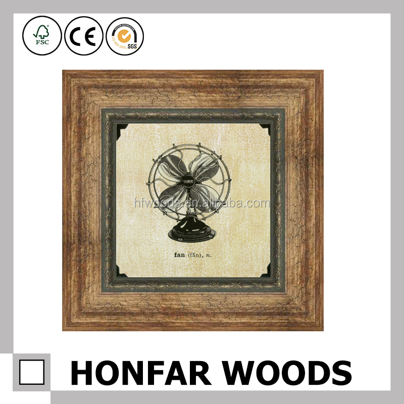 Canada simple style antique wooden picture frame for desktop decoration