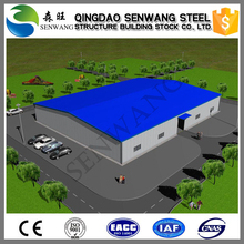 Earthquake-prevention prefabricated steel structure building for sale
