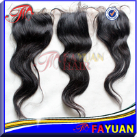 Wholesale price indian hair top quality cheap 4''x4'' free and middle parting indian lace closure