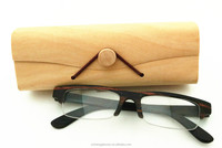 Half frame &fishing wire wooden glasses optical frame myopic lens