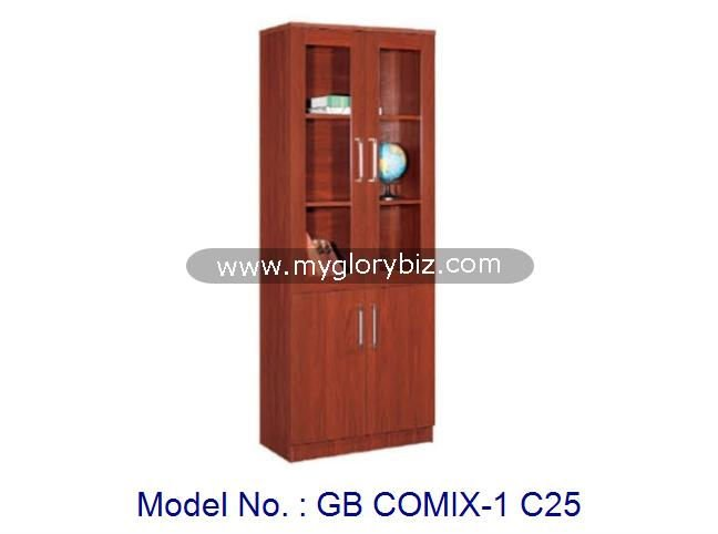 New Wooden Bookshelf With Door Modern Design Furniture In MDF, wooden book cabinet, furniture modern book rack with doors