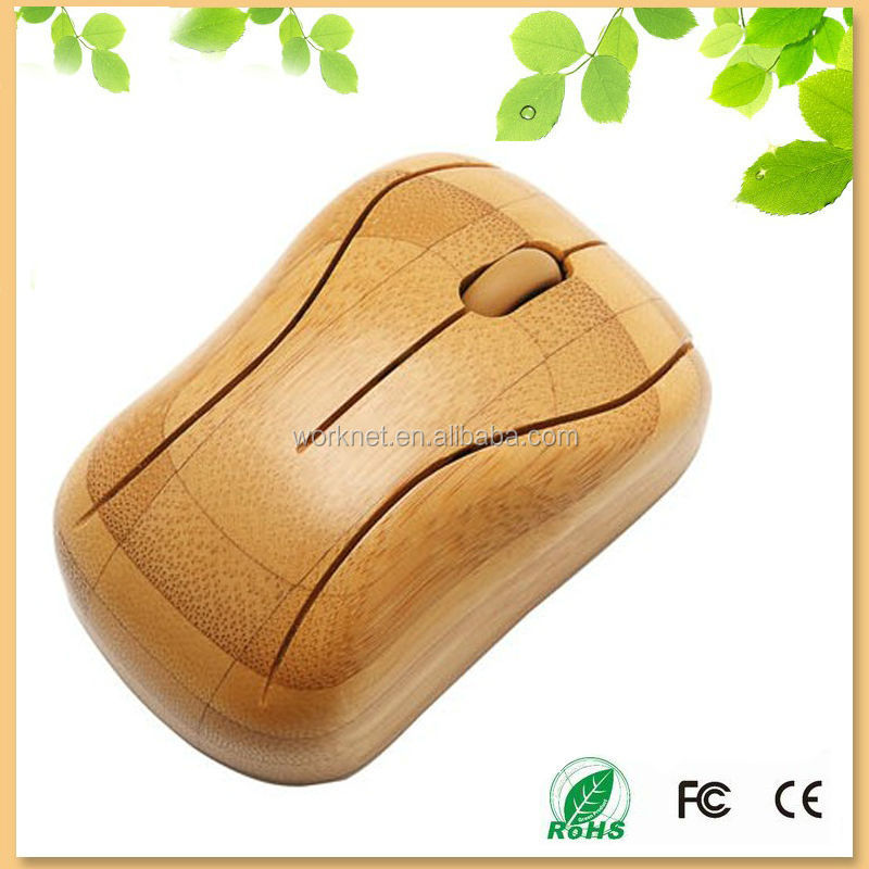 new promotion gift bamboo handmade wireless mouse WK93-N