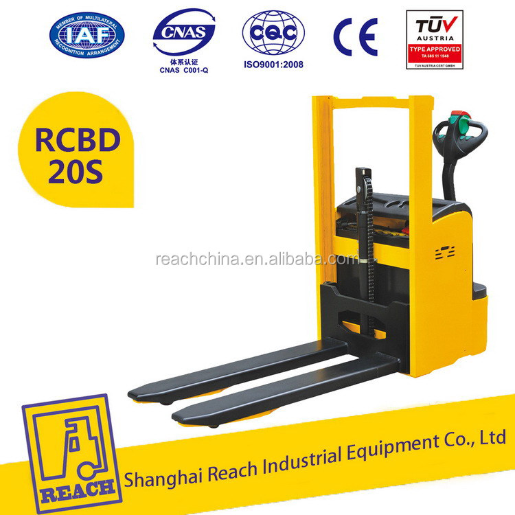 Easy to use best price electric scissor lift pallet truck fork