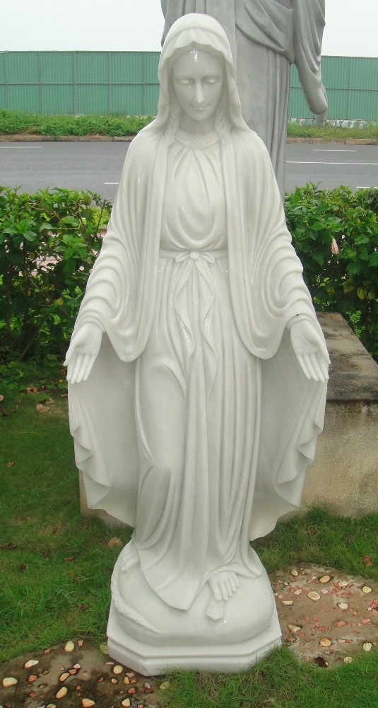 Marble Stone Religious Lady Statue