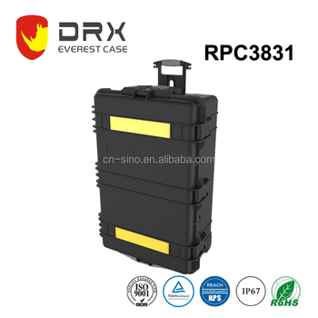 High impact large carrying cases with wheels and foam