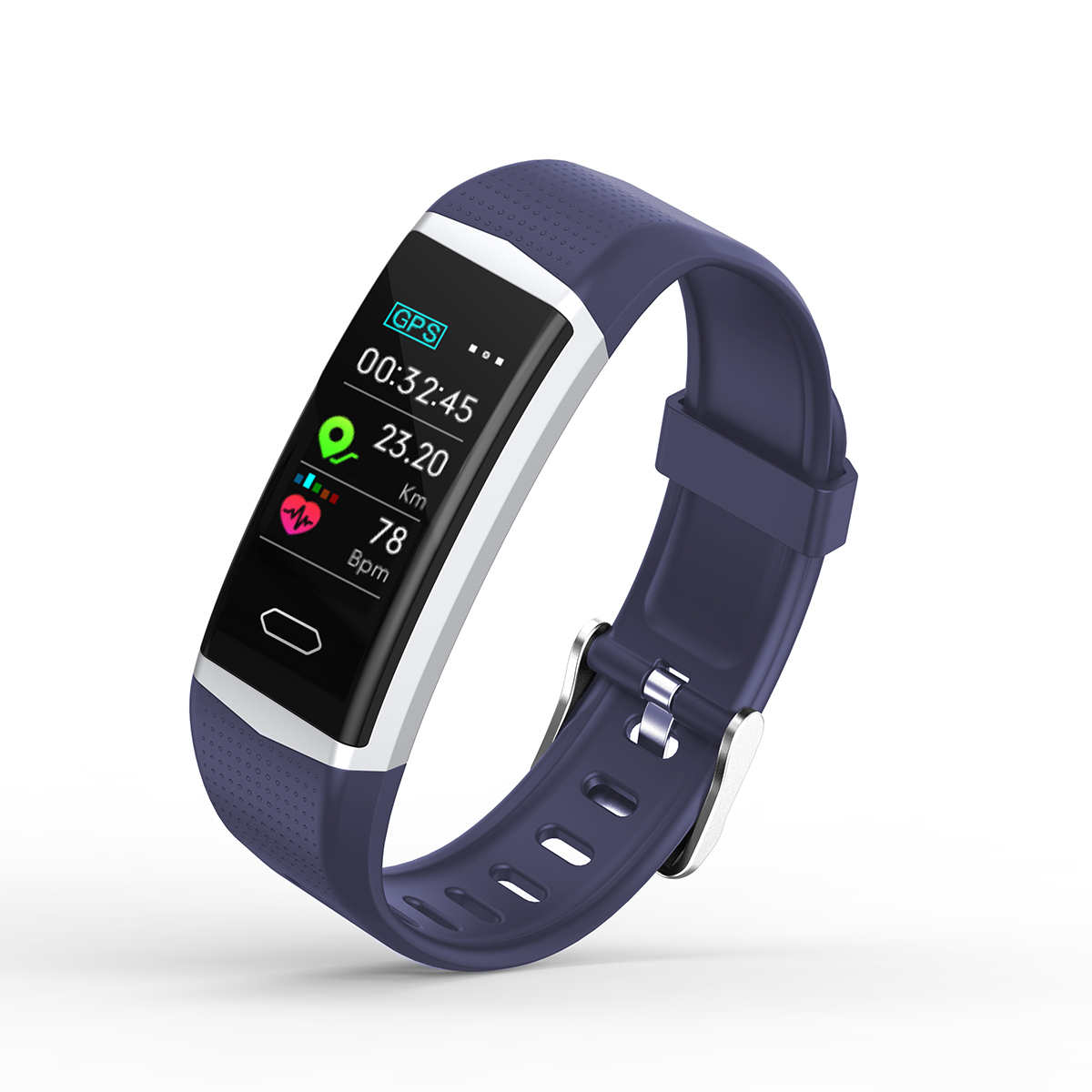newest optional GPS smart band with blood pressure heart rate monitor and pedometer