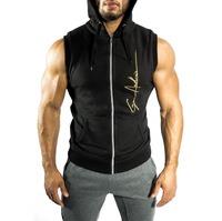 Wholesale Sleeveless Zip Up Hemp Xxl Gym Hoodie By China Manufacturer