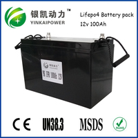 UPS,Power tools, Segway, Golf cart 12V 100Ah LiFePO4 Battery Pack+BMS with SLA-case