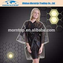Disposable PP/Nonwoven Kimono unisex robe for Spa ,Sauna