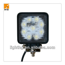 27w led working light square 27watt led truck light for offroad trailers led worklight 27w