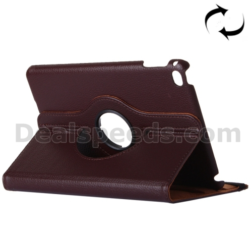 360 Degree Rotatable Stand Wallet Leather Case for iPad Pro 12.9-Wake/Sleep Function