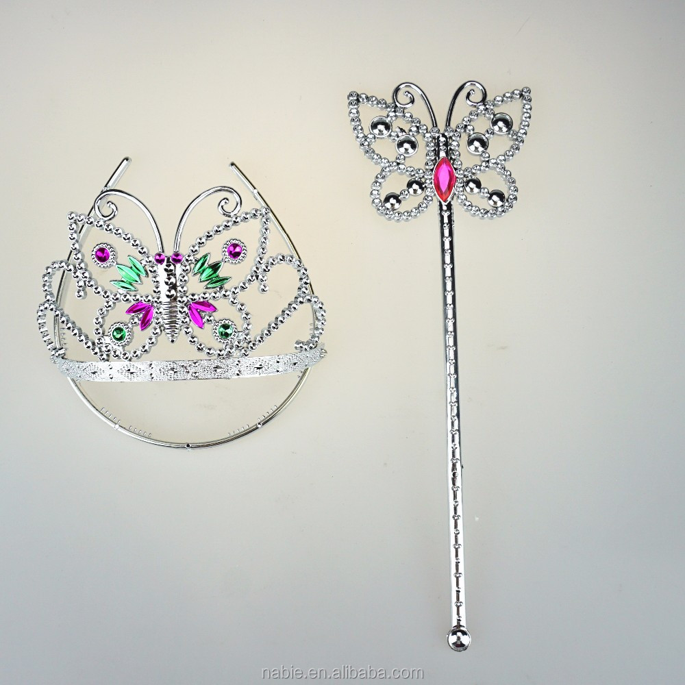 wholesale princess butterfly tiara crown fairy wand magic stick for cosplay