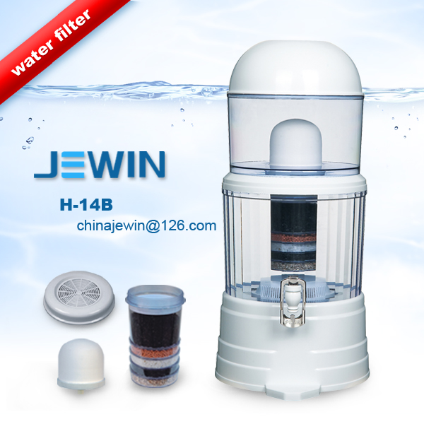 14L mineral water purify pot filter with chromoted water tap