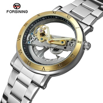 2019 Forsining Factory Hot Selling Men Skeleton Automatic Water Resistant Watches
