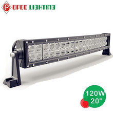 "Factory Direct 20"" 120W Led Light Bar, Offroad Curved 120W Led Light Bar"