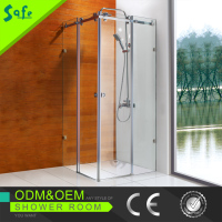 bathrooms designs frameless sliding rain shower
