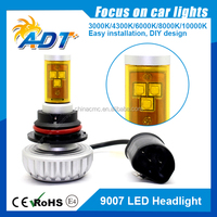 2015 newest brand 2 years warranty canbus no error 80w 6000LM 9007 Hi Low high power led headlight for cars