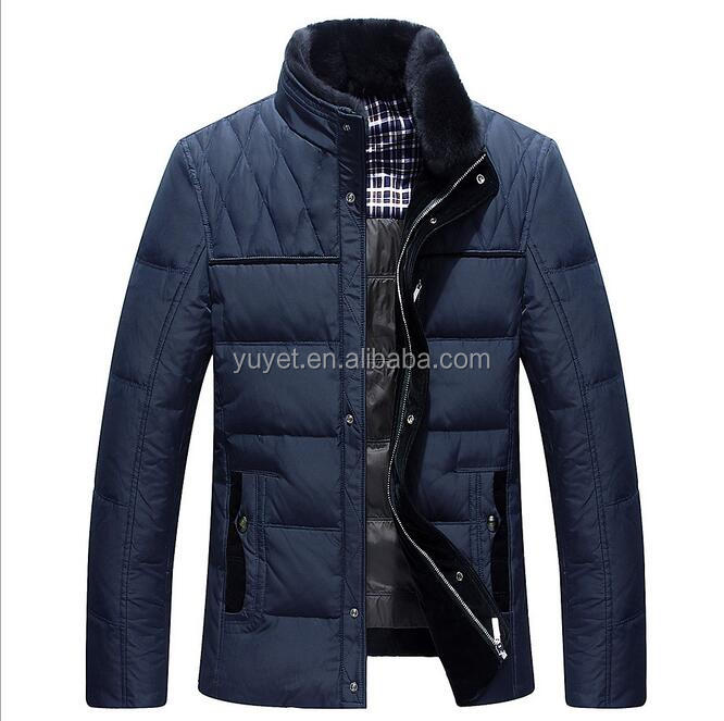 cheap leisure wear style mens standing fur collar jacket