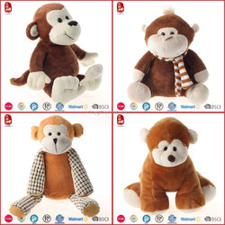 Hot sale good quality monkeys stuffed animals kids toys 2016 new products