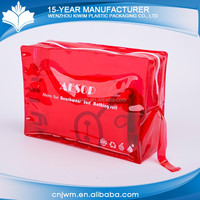 Custom printing waterproof transparent stand up swimwear pvc packing bags
