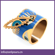 Souvenir colored enamel stainless steel jewelry ring fashion design of drip hand couple ring