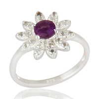 Wholesale Designer Amethyst Ring, Amethyst Gemstone Finger Ring, Designer Jewelry Supplier