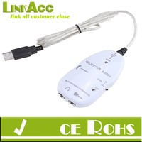 linkacc js-162 Electric Guitar Link to USB Interface Audio Cable for MP3 Recording CD