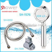 Leelongs Chrome ABS Hydro ABS Handheld Shower With Hose & Holder