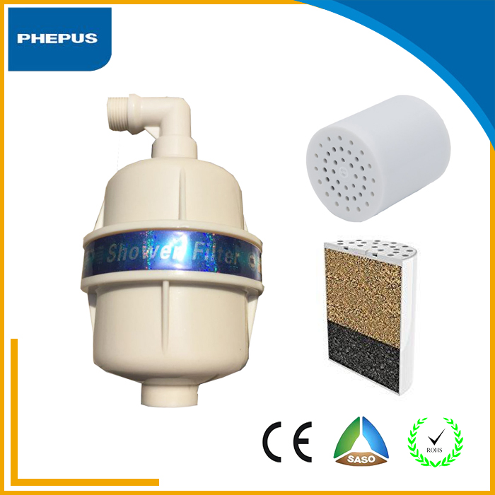 vitamin c shower water filter head with kdf activated energy ball