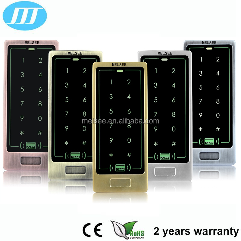 waterproof 8000 users RFID standalone touch keypad metal access control