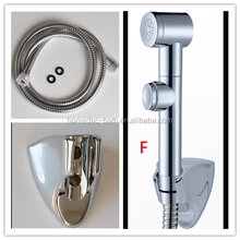 New Arrival ABS Hand held Chrome Toliet Douche Diaper Bidet Spray Sprayer Shattaf Kit Set