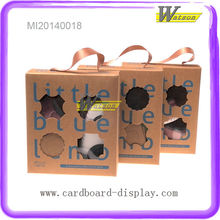 New Design--Custom Decorative Portable Kraft Paper Box for Baby Shoes
