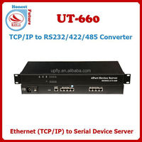 TCP/IP to 4 ports RS232/RS485/RS422 Converter Ethernet to Serial Device Server UT-660-149 Db9/rs232 To Rj45 Tcp Ip Converter