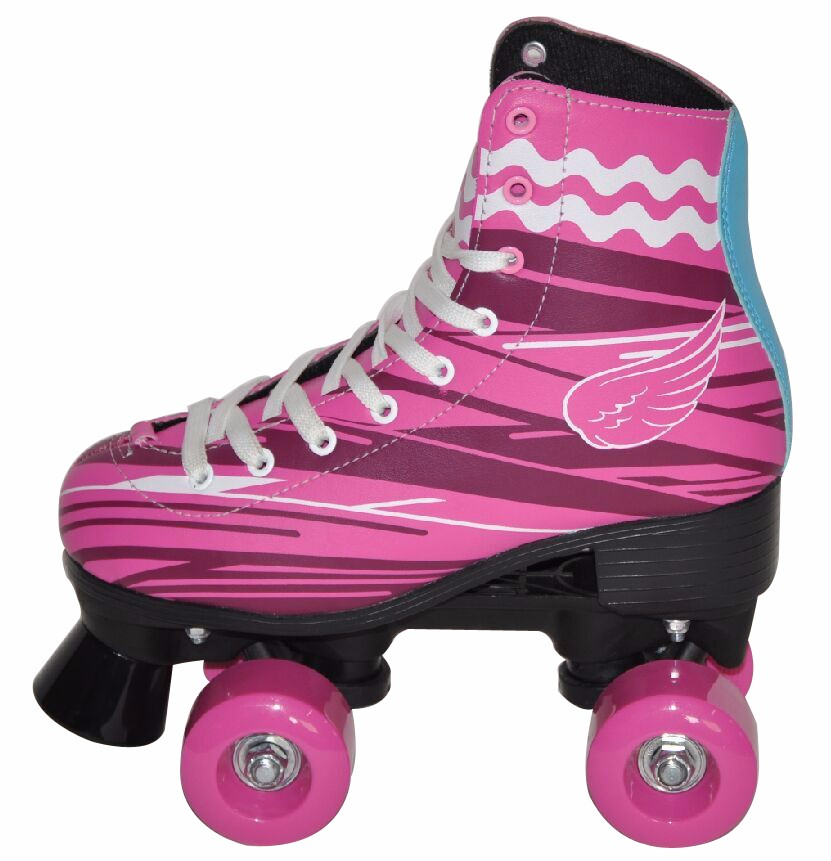 New hot sale fashion kids women quad roller skates pinky soy luna
