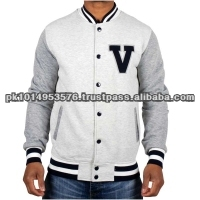2014 custom varsity baseball men jacket/embroidery design/school uniform made in Pakistan