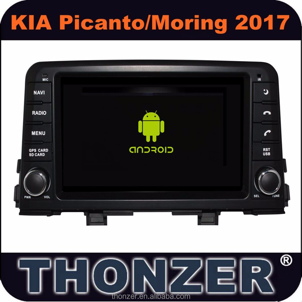 Newest! 8inch Car Video/Audio Player for 2017 Picanto car in Android 6.0 System without DVD slot