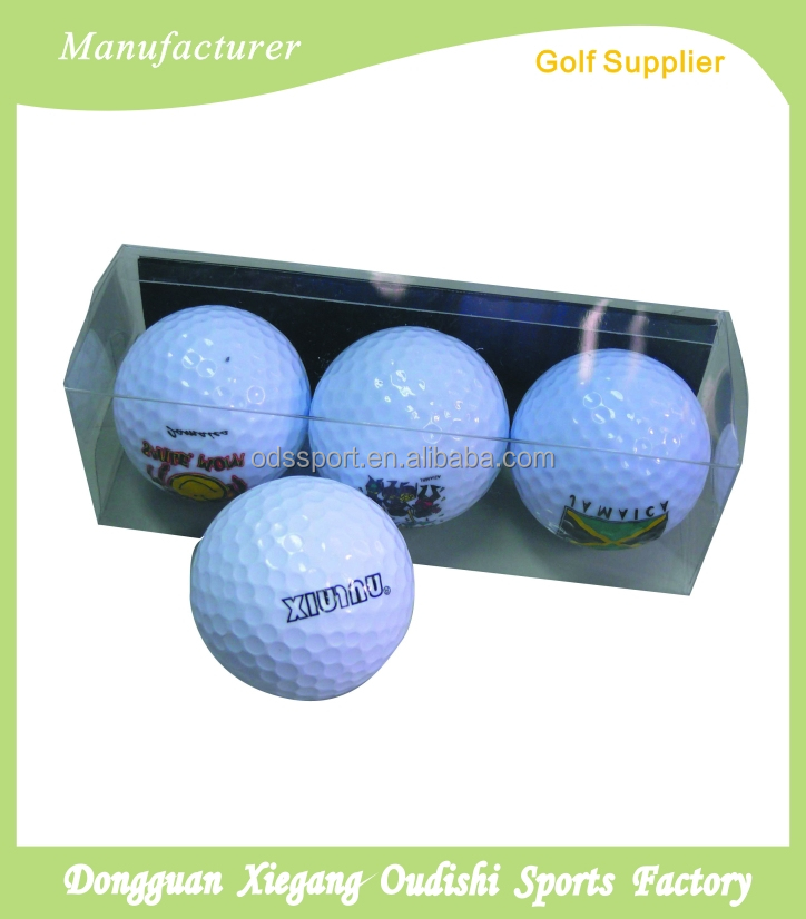 Three Pieces tournament Golf Balls With Box