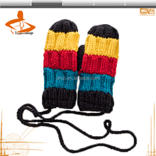 Winter knit jacquard womens gloves