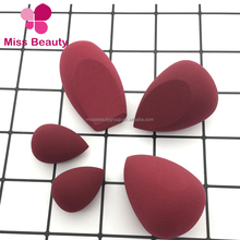 Miss Beauty Private Label Makeup Sponge/ Latex free OEM welcome beauty blending sponge blender with wine color and black duo set