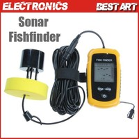 Portable Fish Finder Depth Sonar Sounder Alarm Scale Transducer Fishfinder 100m