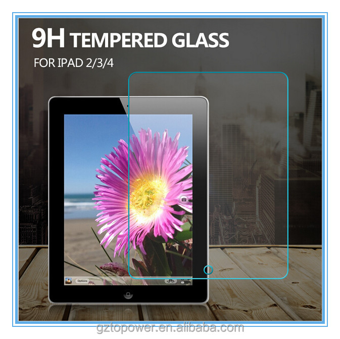 OEM factory china 9H premium tempered glass screen protector for ipad screen protector
